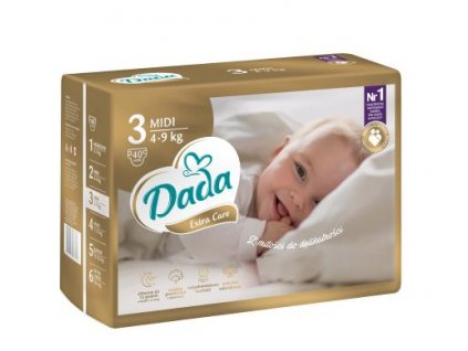 DADA Extra Care, jednorázové pleny vel.:3, 4-9kg, 40ks