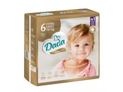 DADA Extra Care, jednorázové pleny, vel.:6, nad 25kg, 26ks