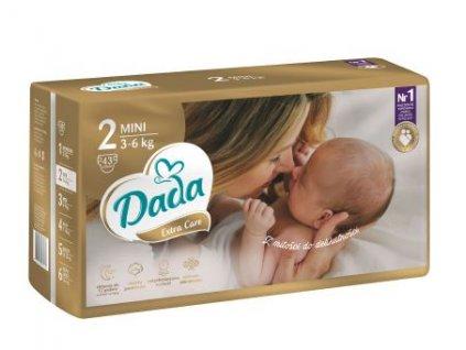 DADA Extra Care, jednorázové pleny, vel.:2, 3-6kg, 43ks