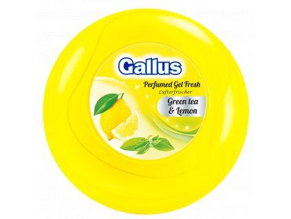 GALLUS, Gelový osvěžovač vzduchu velký, Zelený čaj & Citron, 150g
