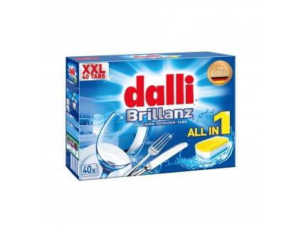 Dalli Brillanz tablety do myčky 10 v 1, 40 tablet, 760g
