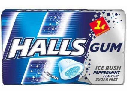 2262 halls gum ice rush peppermint bez cukru 18g