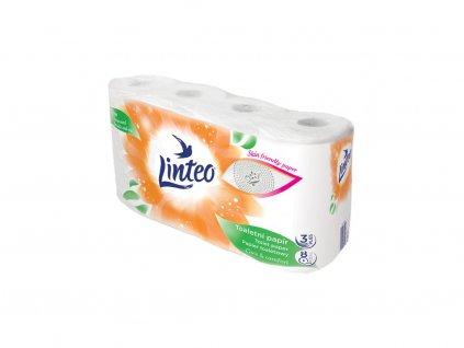 2537 toaletni papir linteo 8 roli bily 3 vrstvy