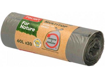 Paclan For Nature - Pytle na odpad z recyklovaného odpadu 60l - 20ks