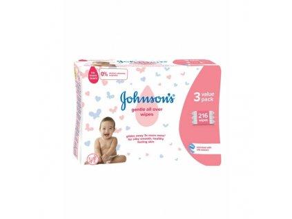 Johnson's dětské vlhčené ubrousky Gentle All Over 216 ks