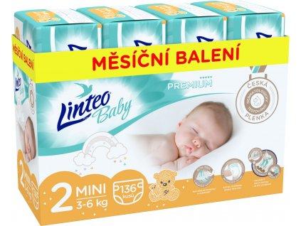 Linteo Baby Prémium Mini 3-6 kg 136 ks