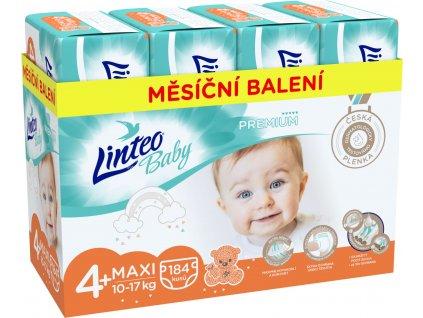 LINTEO Plenky Baby Prémium MAXI+ (10-17 kg) 184 ks