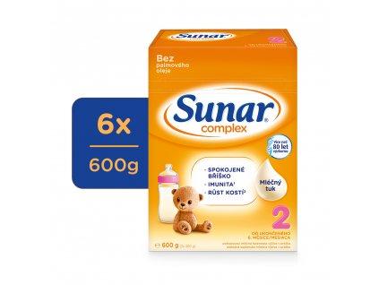 Sunar Complex 2, pokračovací kojenecké mléko, 6x600g