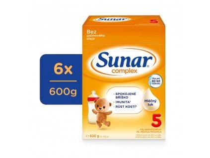 Sunar Complex 5 dětské mléko 6 x 600 g