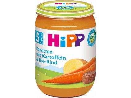 hipp menue karotten mit kartoffeln und bio rind ab dem 5 monat