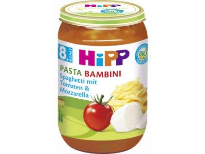 34834 hipp pasta bambini spagety rajcata mozarella 8m 220g