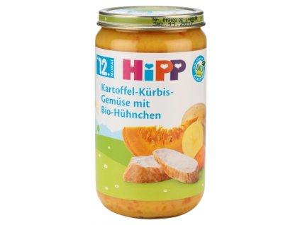 HIPP, Dětské menu, Brambor, dýně, zelenina, BIO Kuřecí. 12M, 250g  (B13)