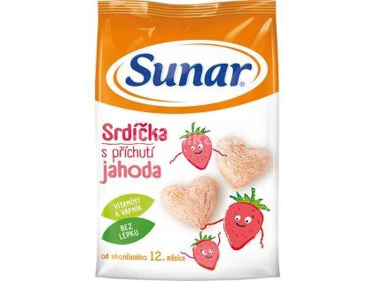 Sunárek dětský snack jahodová srdíčka 50g  (B10)