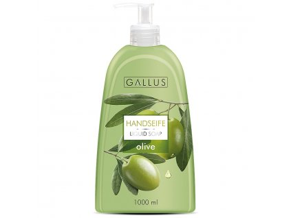 GALLUS, Tekuté rodinné mýdlo s pumpičkou, OLIVY, 1000ml