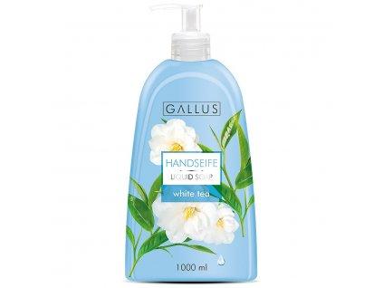 GALLUS, Tekuté rodinné mýdlo s pumpičkou, BÍLÝ ČAJ, 1000ml