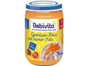 BEBIVITA, Zelenina, rýže, jemná krůta, 220g, 8M
