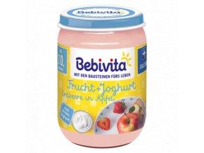 BEBIVITA, Ovoce&Jogurt - Jahoda, jablko, 10M, 190g