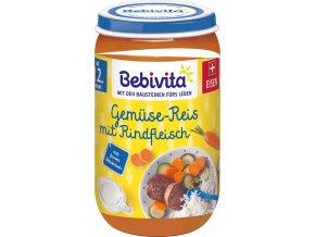 BEBIVITA, Zelenina, rýže, hovězí, 250g, 12M