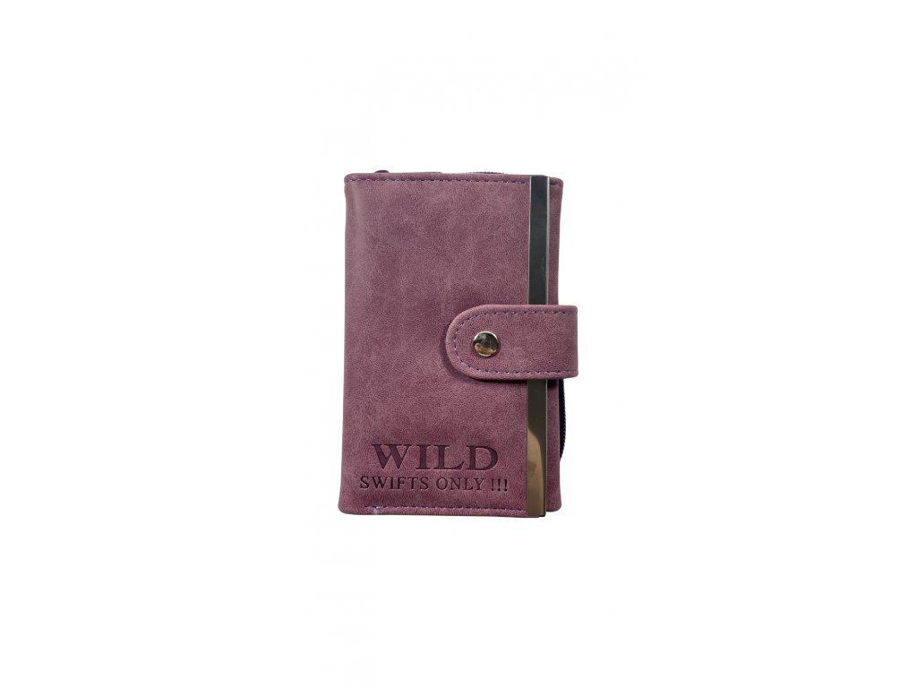 Malá dámská peněženka - červená (Barva Vínová)