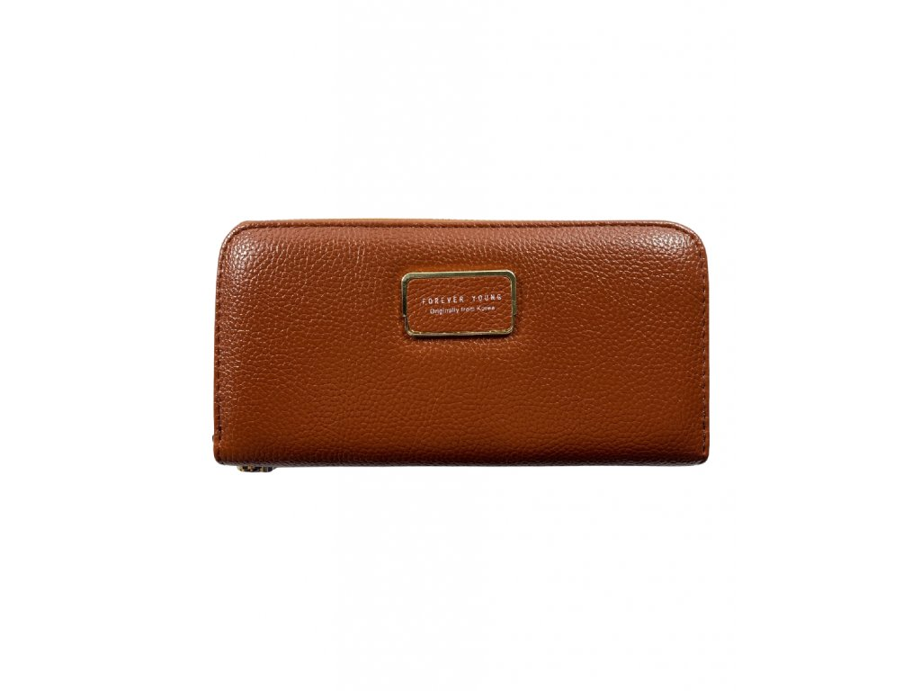 Dámská peněženka - hnědá (Barva Růžová)