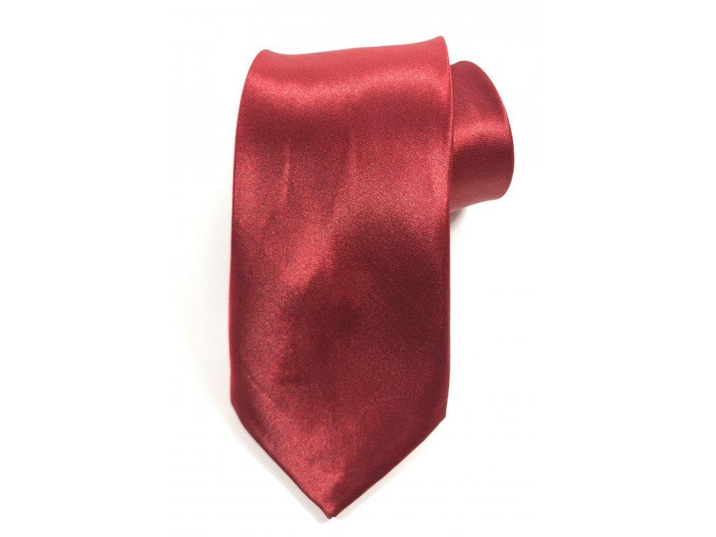 1664 kravata leskla cervena