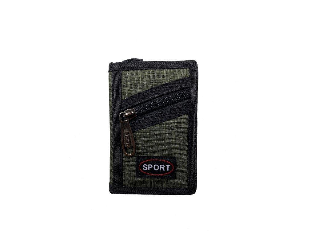 Sport peněženka - zelená (Barva Zelená)