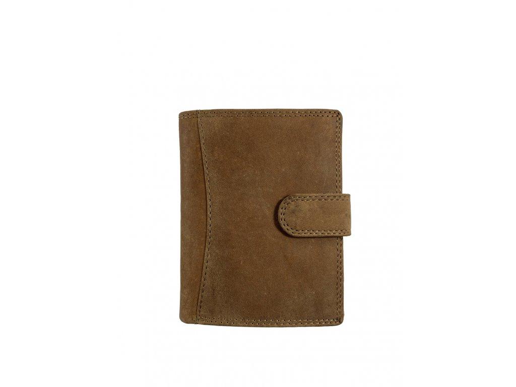 Kožená peněženka Wild - černá (Barva Hnědá)