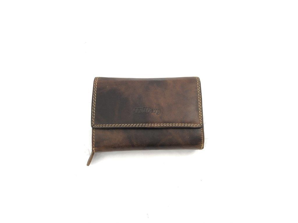 Dámská celokožená peněženka - hnědá