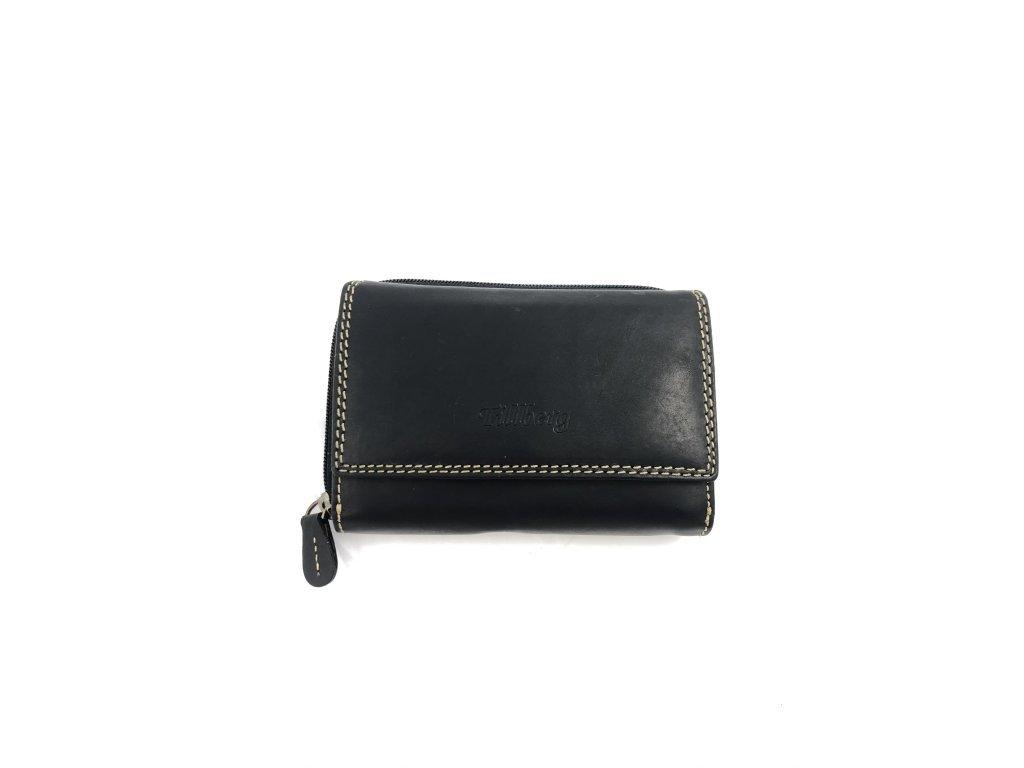 Dámská celokožená peněženka - černá