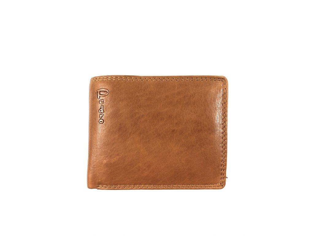 Kvalitní kožená peněženka Pedro (Barva tmavě modrá)