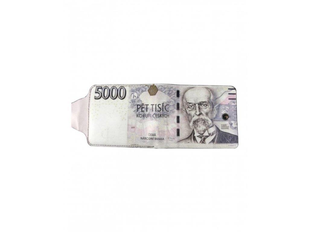 Peněženka s motivem bankovky - 5000Kč