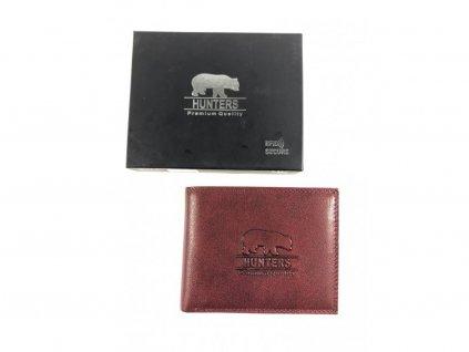 Celokožená peněženka Hunters - červená (Barva Černá)