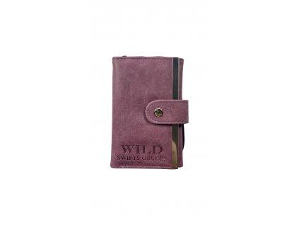 Malá dámská peněženka - fialová (Barva Vínová)