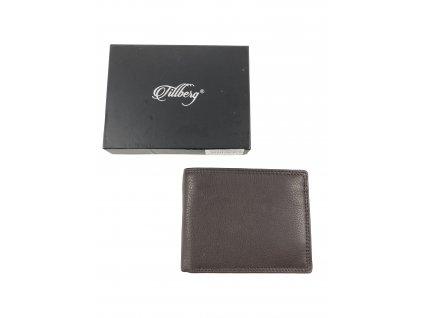Kvalitní kožená peněženka Tillberg (Barva tmavě hnědá)