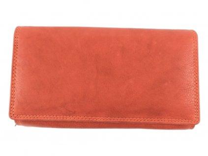Dámská kožená peněženka (Barva oranžová)