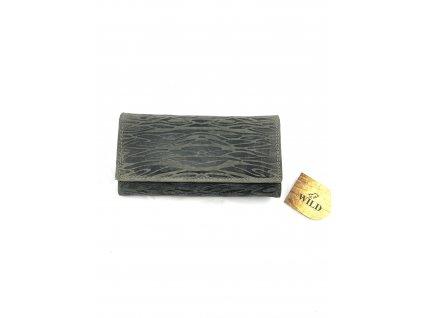 Dámská kožená peněženka s motivem - Wild (Barva Zelená)