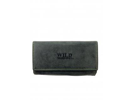 Luxusní dámská kožená peněženka - černá
