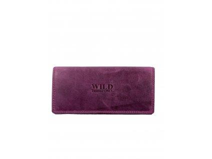Luxusní dámská kožená peněženka - růžová (Barva Růžová)