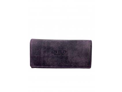 Luxusní dámská kožená peněženka - fialová (Barva Růžová)
