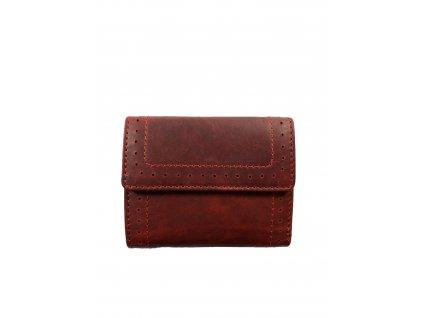 Luxusní dámská celokožená peněženka - červená (Barva Růžová)
