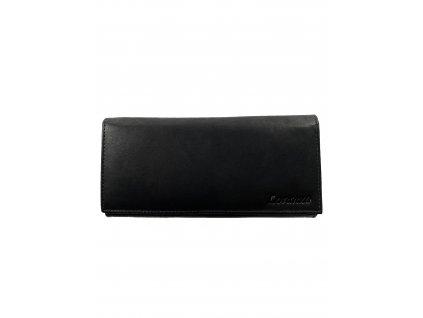 Dámská kožená peněženka - černá (Barva Hnědá)