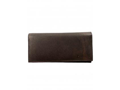 Dámská kožená peněženka - hnědá (Barva Hnědá)