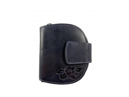 Dámská kvalitní kožená peněženka - modrá