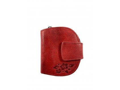 Dámská kvalitní kožená peněženka - červená