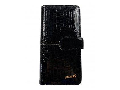 Dámská luxusní peněženka - černá (Barva Hnědá)