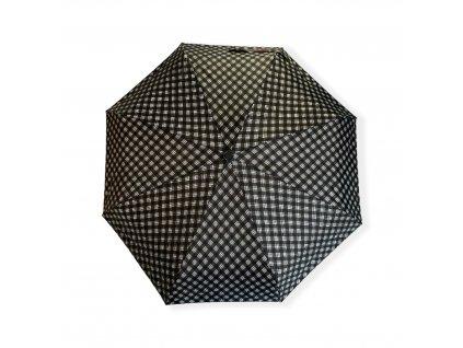 Mini skládací deštník s kostičkami - černá