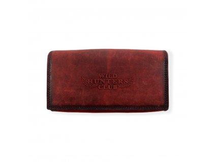 5155 luxusni damska celokozena penezenka cervena