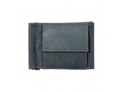 Kožená dolarovka peněženka Wild (Barva šedá)