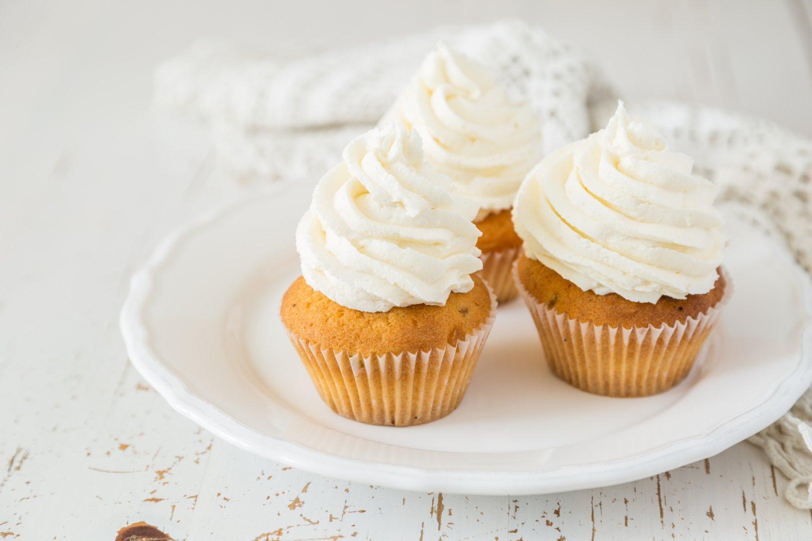 Cuketové cupcakes