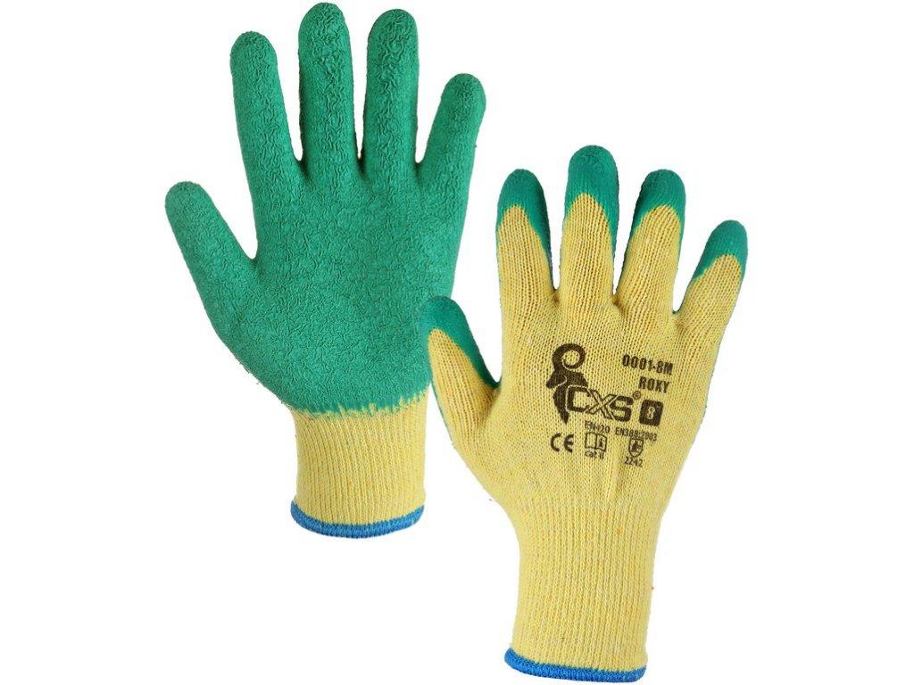 Povrstvené rukavice ROXY, žluto-zelené
